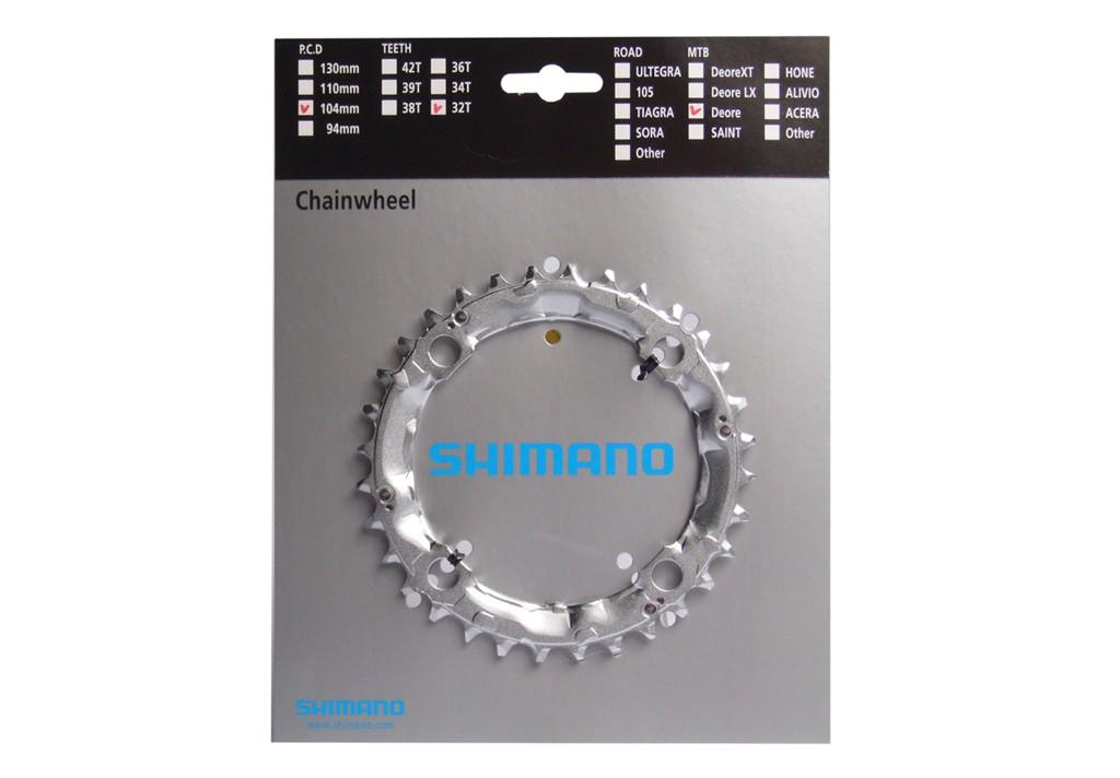 Corona SHIMANO 32 denti, LK4x104mm M440/480/510/570/571/750/751