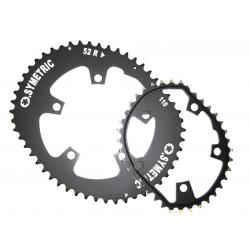 Corona Kit Osymetric 130mm Standard per bici da corsa 52/42 denti, nero