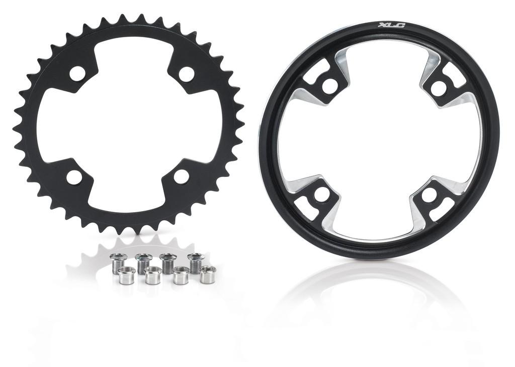 Corona XLC per sistemi Bosch nero, 38 denti, incl. copricorona