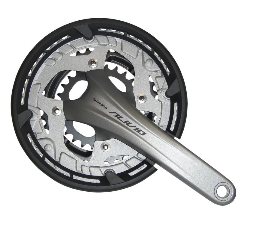 Guarnitura Shimano Alivio 26/36/48 denti 175mm FC-T4060 argento, con cass., 2-pezzi, 9-v