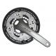 Guarnitura Shimano Alivio 22/32/44 denti 175mm FC-T4060 argento ,con cass., 2-pezzi, 9-v
