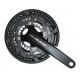 Guarnitura Shimano Alivio 22/32/44 denti 175mm FC-T4060 nero, con cass., 2-pezzi, 9-v