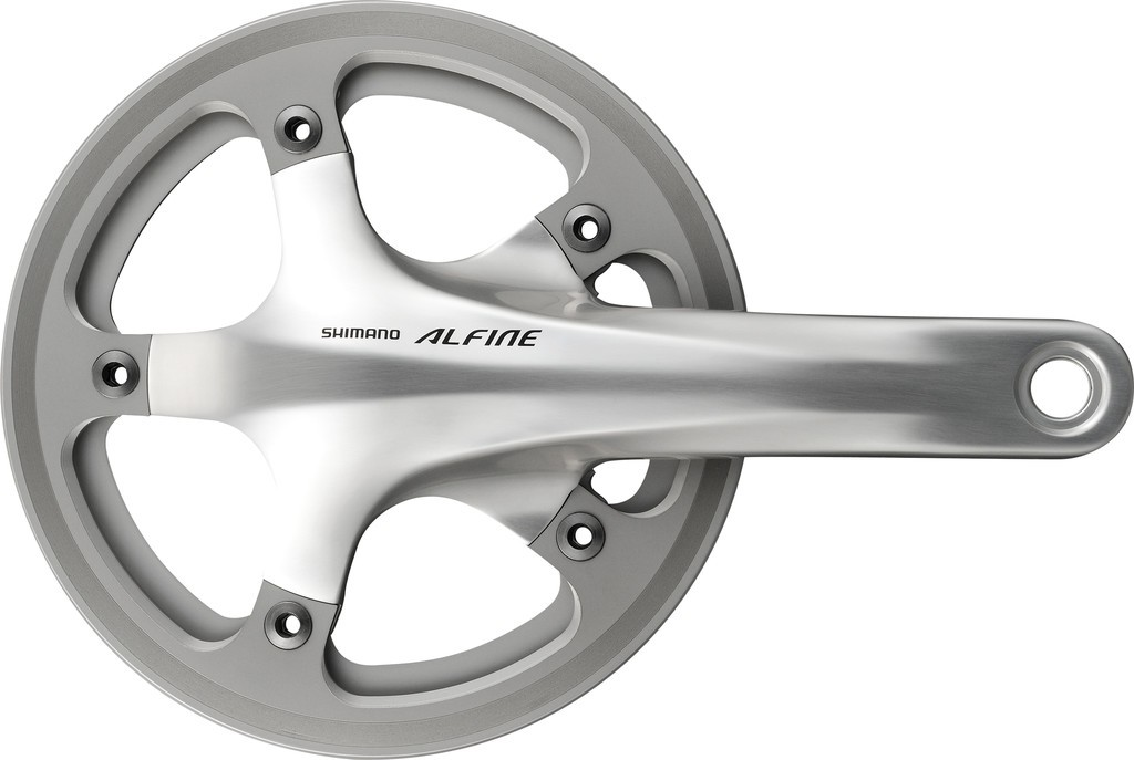 Guarnitura Shimano Alfine 45 denti 170mm FC-S501 argento con KSS Hollowtech II