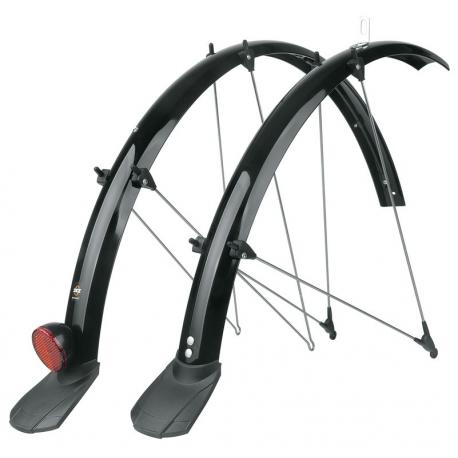 """SKS Set di parafanghi Trekking 28""""con canale per cavo, 45mm, nero, con spoiler e catarifrangente"""