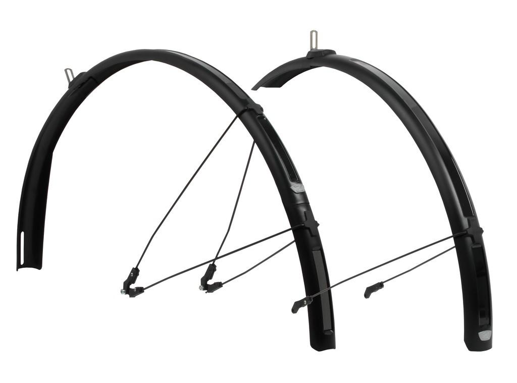 ZÈFAL Set di parafanghi Paragon C40-C52, colore nero, 40mm -per bici città/trekking