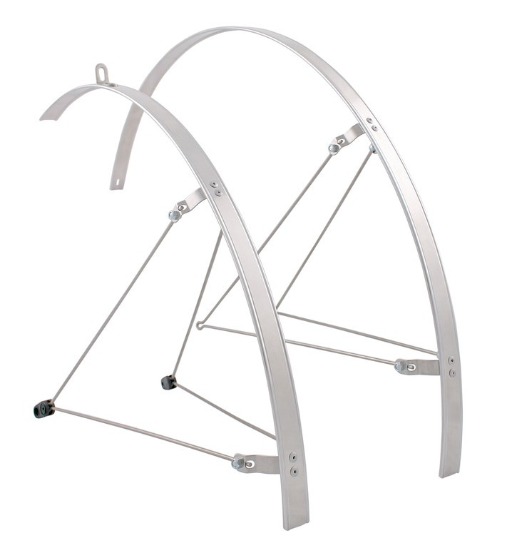 "HEBIE Set di parafanghi Fixed Guard 28"", argento"