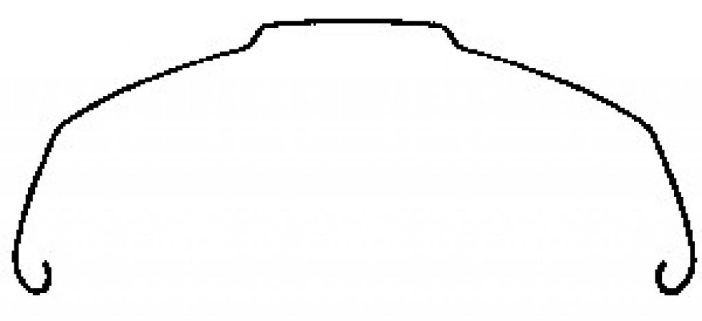 Parafanghi in acciaio inox 28X1.75 54 mm, argento