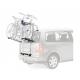 Portabici poesteriore per monovolume e auto familiare Thule BackPac 973 per due biciclette, color argento