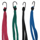 Cinghia elastica quadrupla, 2 ganci, colori assortiti