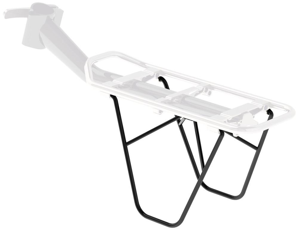 Supporto per borse per Racktime Clipit nero, fissaggio laterale