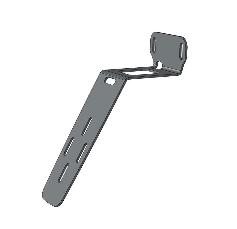 Portatarga Racktime acciaio inox per pedelec veloci ang. 30°