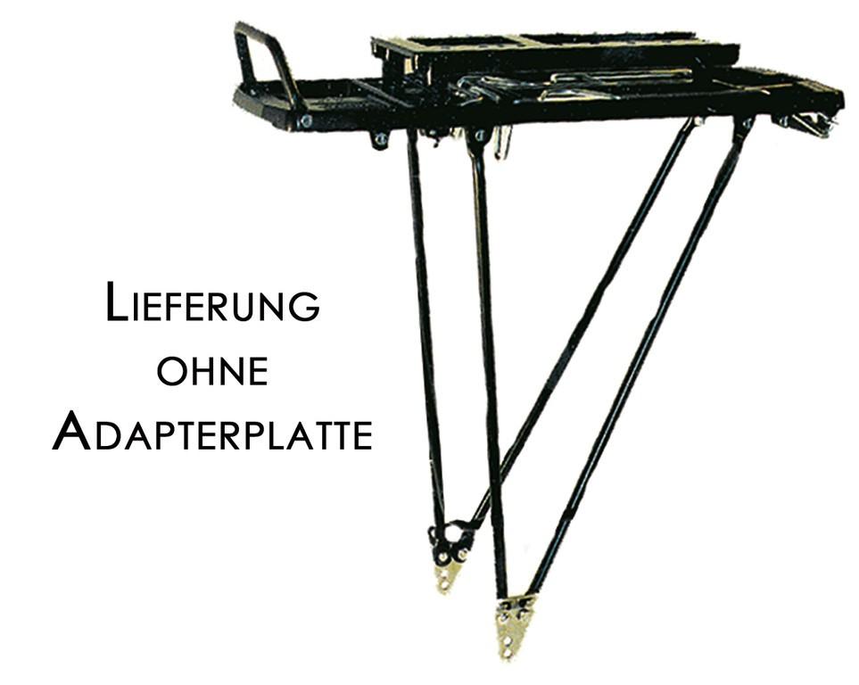 """Portapacchi Pletscher Master 26/28"""" sistema 310/345mm, nero, senza accessori"""