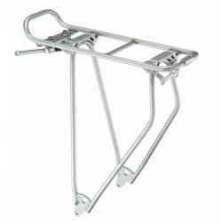 """Portapacchi Racktime Standit 28"""" color argento anodizzato, 630 gr"""
