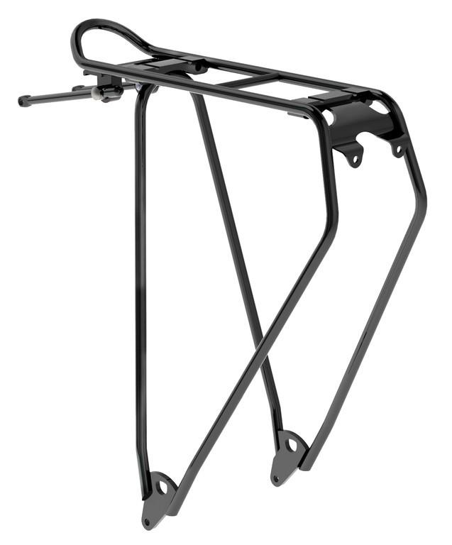 """Portapacchi Racktime Standit Lite 28"""" duro, nero, anodizzato, 450 gr"""