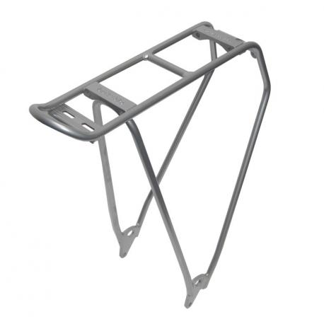 """Portapacchi Racktime Standit Lite 28"""" color argento anodizzato, 450 gr"""