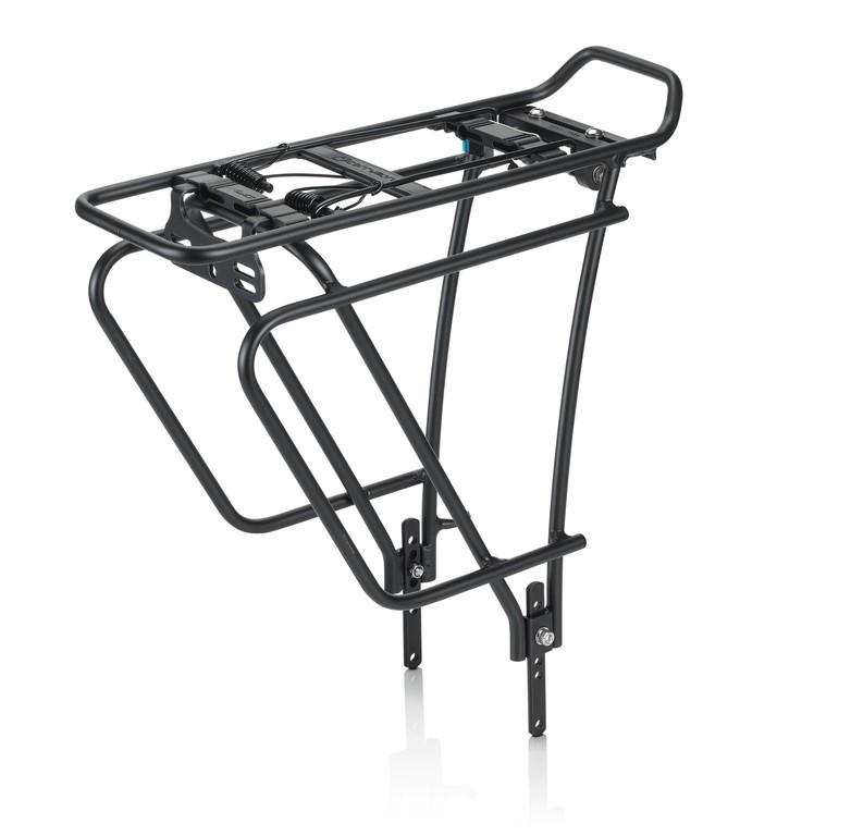 """Portapacchi aluminio XLC RP-R10 nero, 26"""" -28"""" con gancio per borse"""