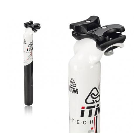 Reggis. brevettato ITM Alutech 7075 wht Ø31,6mm,350mm,bianco, Carbonio rivestito
