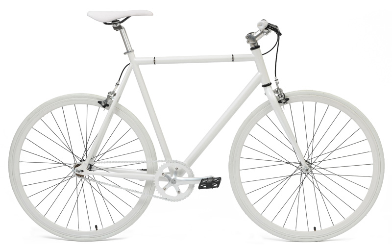 Brandless Track Bike ruota libera/scatto fisso, White