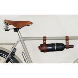 Brave Classic Portabottiglia da Bici in cuoio marrone
