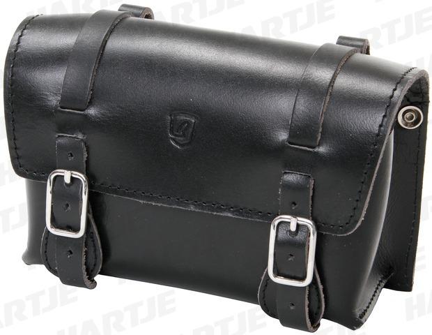 BRAVE CLASSIC Borsa Sottosella in pelle di bufalo, 20 x 14 x 8 cm, nera