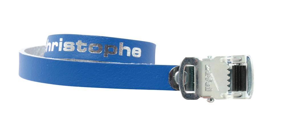 ZÉFAL Vintage cinghie per puntapiedi Christophe in pelle blu