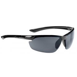 Occhiale da sole Alpina Draff, montatura nera, lenti nere a specchio S3