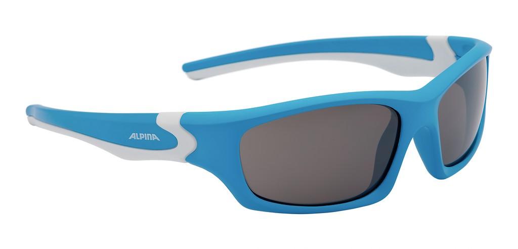Occhiale da sole Alpina Flexxy Teen Mont ciano/bco lente nero specchioS3
