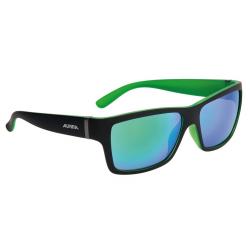 Occhiali da sole Alpina Kacey nero opaco/verde, lenti verdi a spec. S3