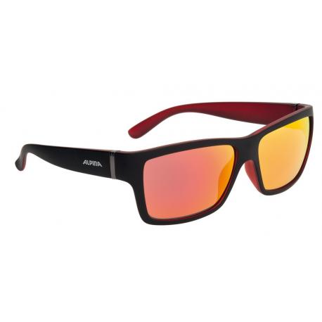 Occhiali da sole Alpina Kacey nero opaco/rosso, lenti rosse a specc.S3