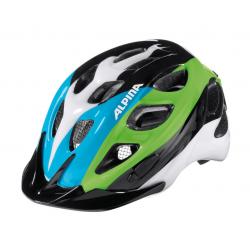 Casco da bici Alpina Rocky Kids nero/blu/verde Tg.47-52cm