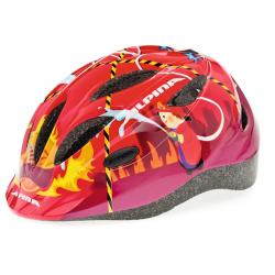 Casco Alpina Gamma 2.0 Taglia (46-51cm) rosso, motivo: pompiere