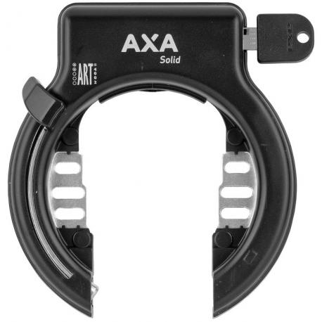 Lucchetto telaio Axa Solid XL nero Fissaggio telaio chiave non estraibile