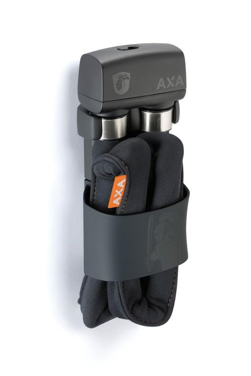Lucchetto piegh Axa 600 Lungh. 95cm,spessore 6mm nero
