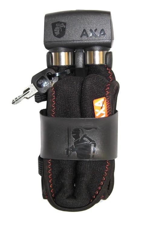 Lucchetto piegh Axa 800 Lungh. 100cm,spessore 8mm nero