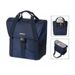 Borsa singola Go Single dark denim blue c. bande riflett 18 L.