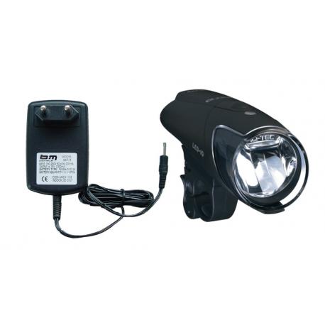 fanale batt LED b&m IXON IQ Premium 80 Lux con alimentatore e batteria