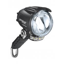 Faro LED b&m Lumotec IQ Cyo T senso plus c.luce d.giorno 60 Lux+rifl.