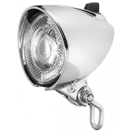 Faro LED b&m Lumotec Classic N per dinamo di mozzo c.interruttore