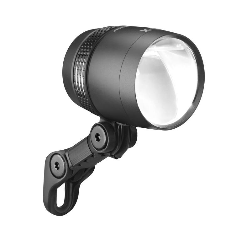Fari LED b&m IQ-X sensoplus nero anodizzato
