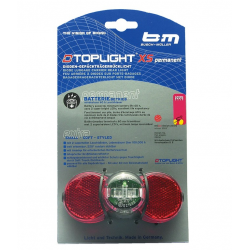 luce post. B&M D-Toplight XS permanente luce post.a diodi,a batt.,c.fanal.d.pos.