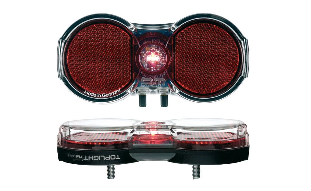 luce post. B&M Toplight Flat plus 80/50 mm, perno variabile
