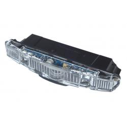 Luce post. a dinamo b&m per Racktime barra luminosa trasparente