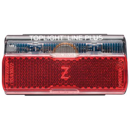 Luce posteriore dinamo a diodi b&m Toplight Line Plus con luce di posizione