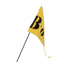 Stendardo per BOB giallo 2 lati per rimorchi BOB