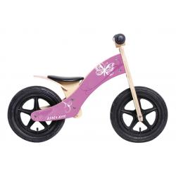 "Bici senza pedali Rebel Kidz Wood Air legno, 12"", farfalla rosa"