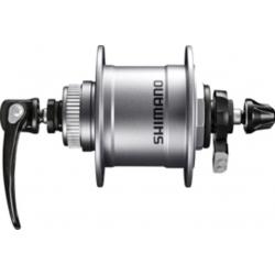 Mozzo a dinamo per ruota anteriore Shimano DH-T4050 100mm, 36 fori, Centerlock, 1,5 W, argento