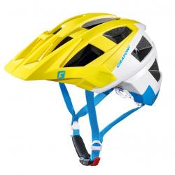 Casco bici Cratoni AllSet (MTB) Tg. M/L (58-61cm) lime/bianco/blu opaco