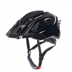 Casco bici Cratoni AllRide (MTB) Tg. Uni (53-60cm) nero/bianco opaco