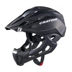 Casco bici Cratoni C-Maniac (Freeride) Tg. S/M (52-56cm) nero opaco