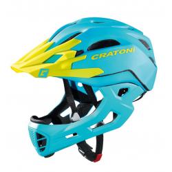 Casco bici Cratoni C-Maniac (Freeride) Tg. S/M (52-56cm) blu/lime opaco